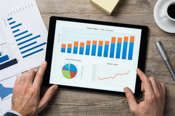 Graphiques sur une tablette numérique