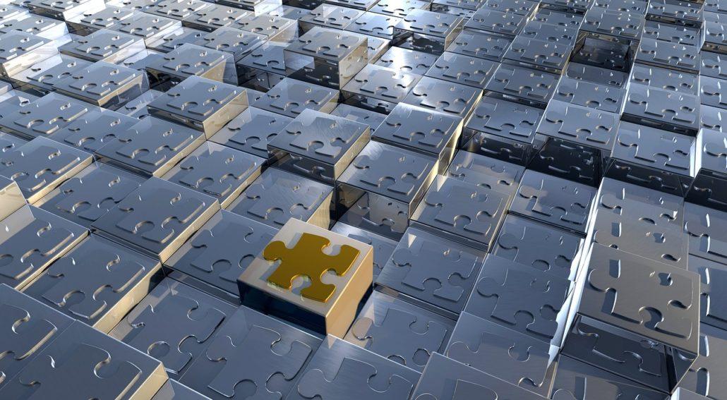 cube et pièce de puzzle
